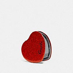 GLITTER HEART MIRROR - RED - COACH F67136