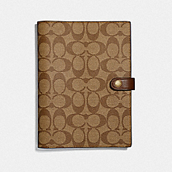 NOTEBOOK IN SIGNATURE CANVAS - KHAKI - COACH F67143