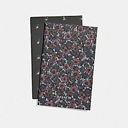 NOTEBOOK SET WITH DITSY FLORAL PRINT - MULTICOLOR - COACH F67144