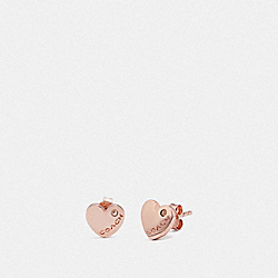 HEART STUD EARRINGS - ROSEGOLD - COACH F67150