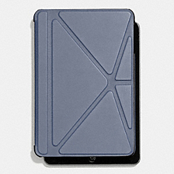 COACH BLEECKER ORIGAMI IPAD MINI CASE IN LEATHER - FROST BLUE - F67156