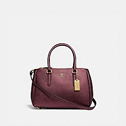 MINI SURREY CARRYALL - IM/METALLIC WINE - COACH F67247