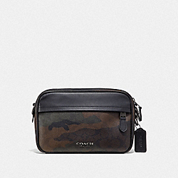 GRAHAM CROSSBODY IN SIGNATURE CANVAS WITH CAMO PRINT - GREEN MULTI/BLACK ANTIQUE NICKEL - COACH F67326