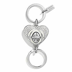MILTON GLASER VALET KEY RING - SILVER - COACH F67400
