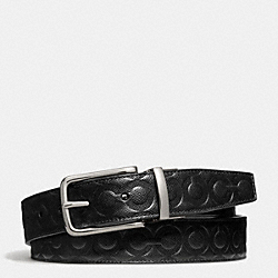 COACH DRESS WESTON OP ART BELT - BLACK/BLACK - F67417