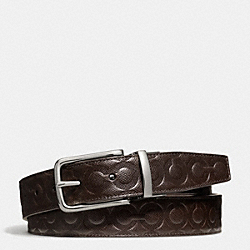 COACH DRESS WESTON OP ART BELT - MAHOGANY/MAHOGANY - F67417