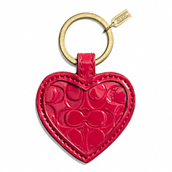 EMBOSSED LIQUID GLOSS MIRROR KEY RING COACH F67433