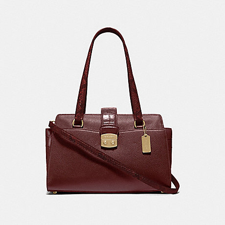 COACH AVARY CARRYALL - WINE/IMITATION GOLD - F67451