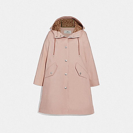 COACH RAINCOAT WITH SIGNATURE LINING - ORCHID - F67459