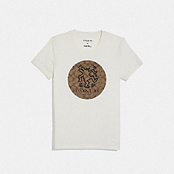KEITH HARING SIGNATURE DOG T-SHIRT - WHITE - COACH F67468