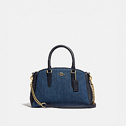 MINI SAGE CARRYALL - DENIM/LIGHT GOLD - COACH F67473