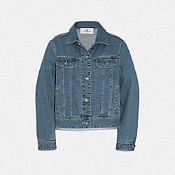 SIGNATURE EVERYDAY DENIM JACKET - DENIM - COACH F67483