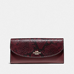 SLIM ENVELOPE WALLET - WINE/IMITATION GOLD - COACH F67499