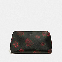 COSMETIC CASE 22  WITH JUMBO FLORAL PRINT - BLACK MULTI/BLACK/IMITATION GOLD - COACH F67507