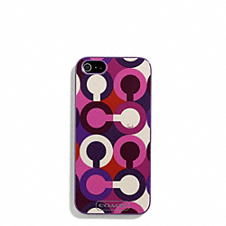 COACH PARK OP ART SCARF PRINT IPHONE 5 CASE - ONE COLOR - F67521