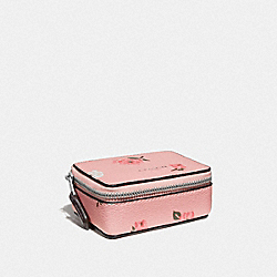 TRIPLE PILL BOX WITH TOSSED PEONY PRINT - PETAL MULTI/SILVER - COACH F67526
