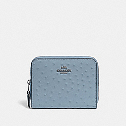 SMALL ZIP AROUND WALLET - CORNFLOWER/SILVER - COACH F67606
