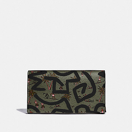 COACH KEITH HARING UNIVERSAL PHONE CASE WITH HULA DANCE PRINT - SURPLUS MULTI/BLACK ANTIQUE NICKEL - F67627