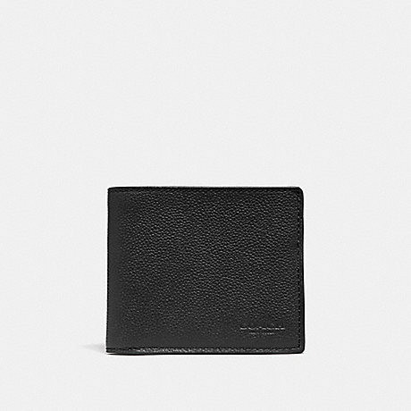 COACH ID BILLFOLD WALLET - BLACK/BLACK ANTIQUE NICKEL - F67630