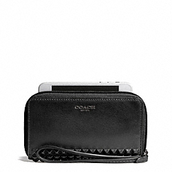 COACH STUDDED LEATHER EAST/WEST UNIVERSAL CASE - ONE COLOR - F67657