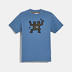 KEITH HARING T-SHIRT - DUSTY BLUE - COACH F67674