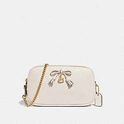 CROSSBODY POUCH - CHALK/LIGHT GOLD - COACH F67694
