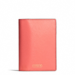 DARCY LEATHER PASSPORT CASE COACH F67737