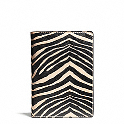 ZEBRA PRINT PASSPORT CASE COACH F67740