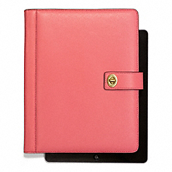 COACH DARCY LEATHER TURNLOCK IPAD CASE - ONE COLOR - F67750