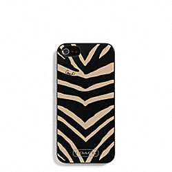 COACH ZEBRA PRINT MOLDED IPHONE 5 CASE - BLACK - F67753