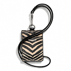 COACH ZEBRA PRINT LANYARD ID - ONE COLOR - F67763
