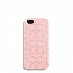 COACH METALLIC SIGNATURE MOLDED IPHONE 5 CASE - ONE COLOR - F67806