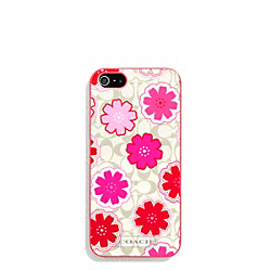 FLORAL PRINT MOLDED IPHONE 5 CASE COACH F67811
