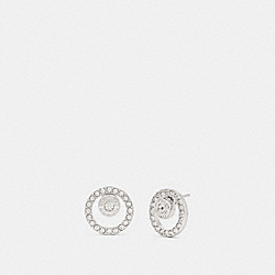OPEN CIRCLE HALO STUD EARRINGS - SILVER - COACH F68009