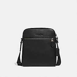 HOUSTON FLIGHT BAG - BLACK/BLACK ANTIQUE NICKEL - COACH F68014