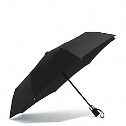 COACH HERITAGE SIGNATURE RETRACTABLE UMBRELLA - BLACK - F68036