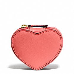 DARCY LEATHER HEART JEWELRY POUCH COACH F68078