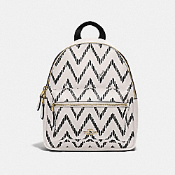 MINI CHARLIE BACKPACK WITH GEO CHEVRON PRINT - BLACK/CHALK/IMITATION GOLD - COACH F68098