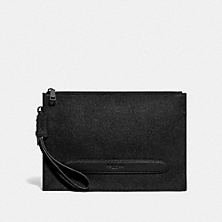 STRUCTURED POUCH - BLACK - COACH F68154