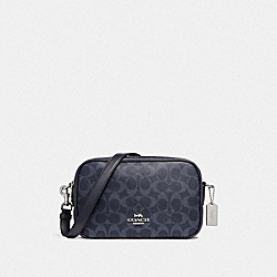 JES CROSSBODY IN SIGNATURE CANVAS - DENIM/SILVER - COACH F68167