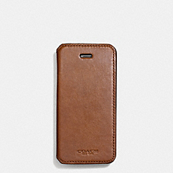 COACH BLEECKER LEATHER IPHONE CASE WITH STAND - FAWN - F68277