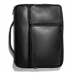 THOMPSON TABLET ORGANIZER IN LEATHER - BLACK - COACH F68280