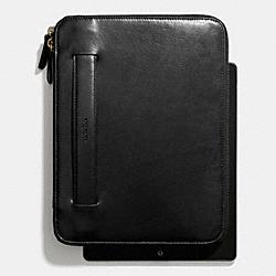 COACH BLEECKER ZIP IPAD CASE WITH STAND - BLACK - F68282