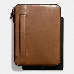 COACH BLEECKER ZIP IPAD CASE WITH STAND - FAWN - F68282