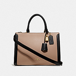 ZOE CARRYALL IN COLORBLOCK - BEECHWOOD/MULTI/IMITATION GOLD - COACH F68294