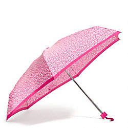 HEART PRINT MINI UMBRELLA COACH F68449