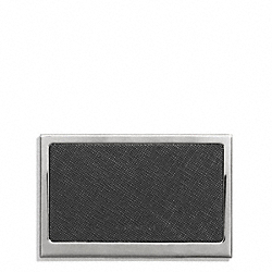 COACH LEXINGTON SAFFIANO LEATHER BUSINESS CARD CASE - ONE COLOR - F68497
