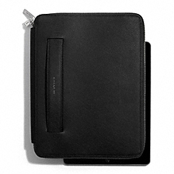 LEXINGTON SAFFIANO LEATHER MOLDED ZIP IPAD CASE - f68510 - 30515