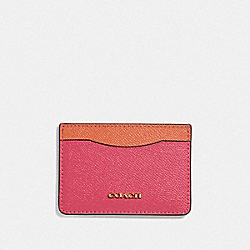 CARD CASE - RUBY/GOLD - COACH F68620