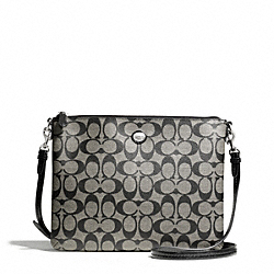 COACH PEYTON SIGNATURE TABLET CROSSBODY - SILVER/BLACK/WHITE/BLACK - F68658